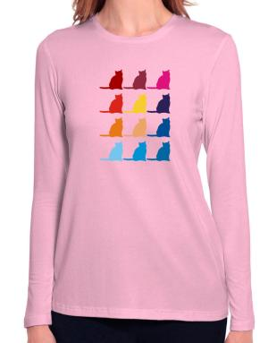 Colorful Russian Long Sleeve T-Shirt-Womens