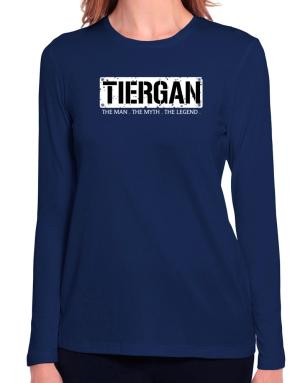 Tiergan : The Man - The Myth - The Legend Long Sleeve T-Shirt-Womens