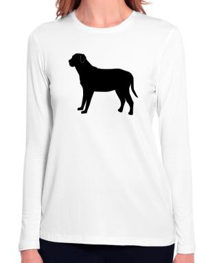Broholmer silhouette Long Sleeve T-Shirt-Womens