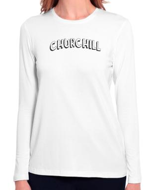 Churchill classic style Long Sleeve T-Shirt-Womens