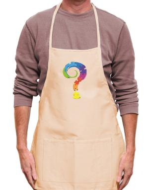 Query mark Apron