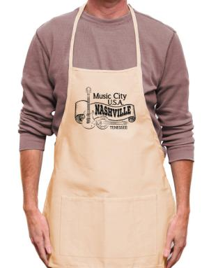 Music city Usa Nashville Tennessee Apron
