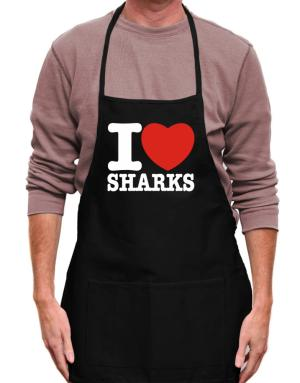 I Love Sharks Apron