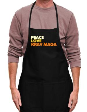 Peace , Love And Krav Maga Apron