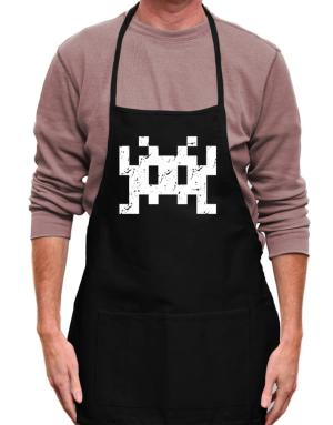 Space invaders retro Apron