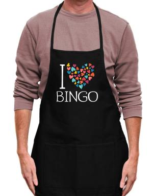 Mandil de I love Bingo colorful hearts
