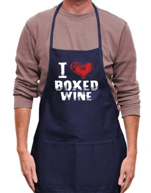I love boxed wine Apron