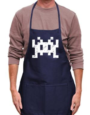 Mandil de Space invaders retro
