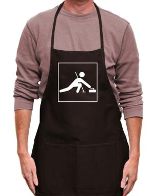 Curling-Pictogram Apron