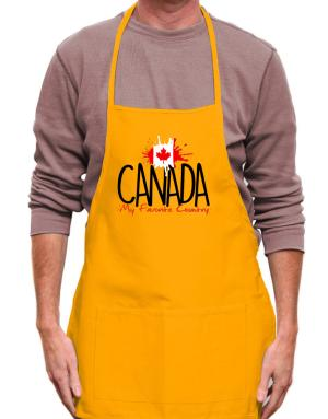 Canada my favorite country Apron
