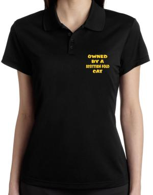 Owned By S Scottish Fold Polo Shirt-Womens