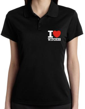 """"""" I love Witches """" Polo Shirt-Womens"""