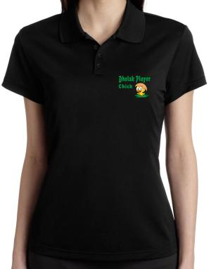 Dholak Player chick Polo Shirt-Womens