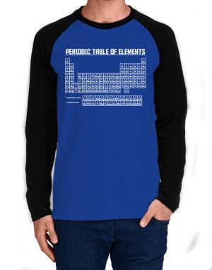 Periodic table of elements Long-sleeve Raglan T-Shirt