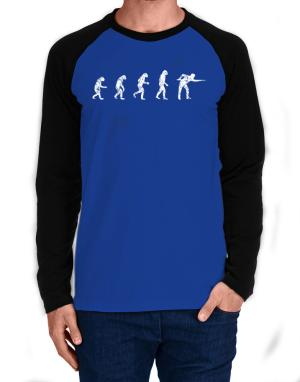 Evolution of a pool player Long-sleeve Raglan T-Shirt