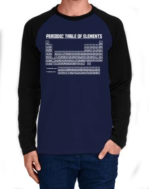Raglan Manga Larga de Periodic table of elements