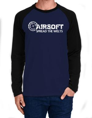 Airsoft spread the welts Long-sleeve Raglan T-Shirt
