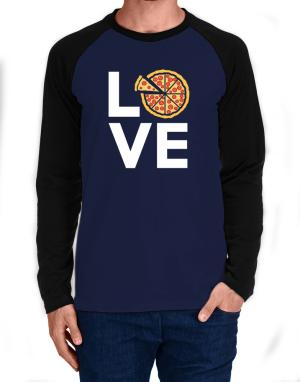 Love pizza Long-sleeve Raglan T-Shirt
