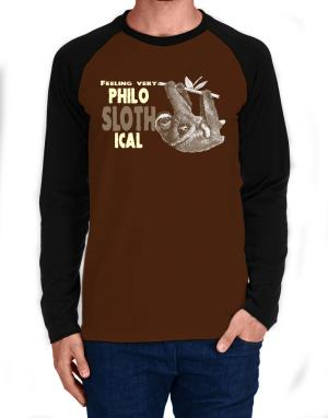 Philosophical Sloth Long-sleeve Raglan T-Shirt