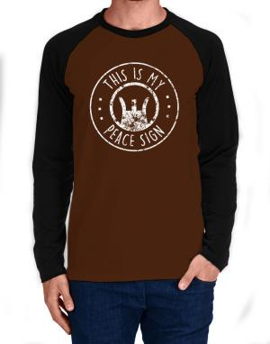 Raglan Manga Larga de This is My Peace Sign