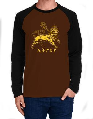 Rastafari lion of Judah Long-sleeve Raglan T-Shirt
