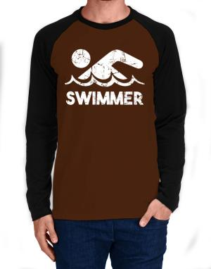 Swimmer Long-sleeve Raglan T-Shirt
