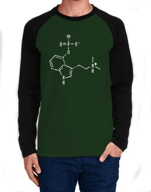 Psilocybin Chemical Formula Long-sleeve Raglan T-Shirt