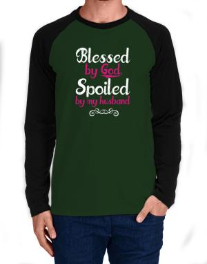 Raglan Manga Larga de Blessed by god spoiled by my husband