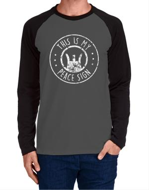 This is My Peace Sign Long-sleeve Raglan T-Shirt