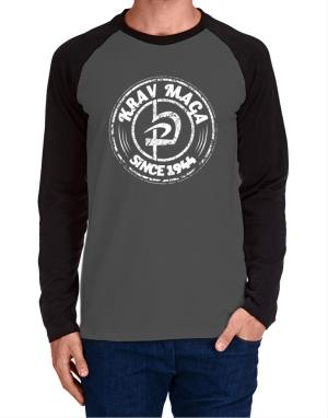 Krav maga since 1944 Long-sleeve Raglan T-Shirt