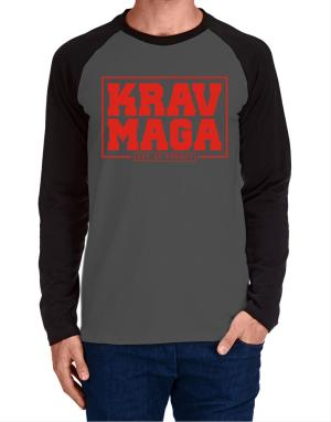 Krav maga art of combat Long-sleeve Raglan T-Shirt