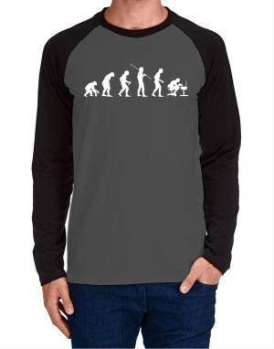 Evolution of gamer Long-sleeve Raglan T-Shirt