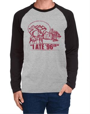 I ate 96er outdoors Long-sleeve Raglan T-Shirt