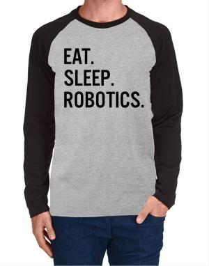 Raglan Manga Larga de Eat sleep robotics