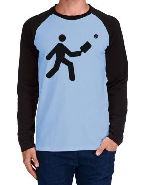 Raglan Manga Larga de Pickleball Stickman