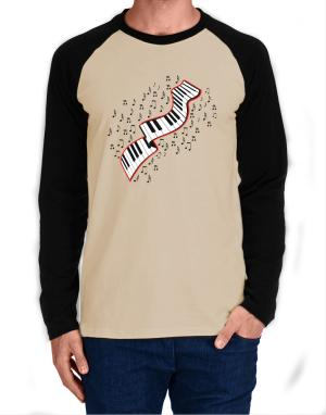 Flying Keyboard Long-sleeve Raglan T-Shirt
