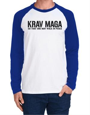Raglan Manga Larga de Krav Maga Walk in peace