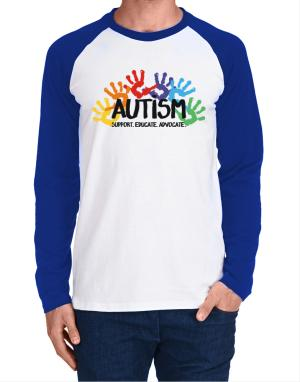 Autism support Long-sleeve Raglan T-Shirt