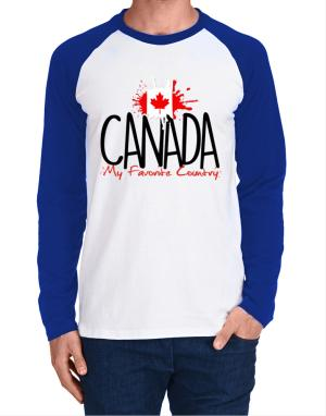 Raglan Manga Larga de Canada my favorite country