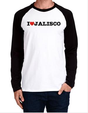 Raglan Manga Larga de I Love Jalisco