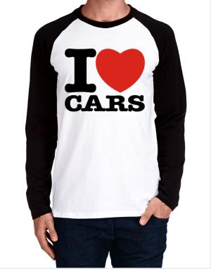 I Love Cars Long-sleeve Raglan T-Shirt