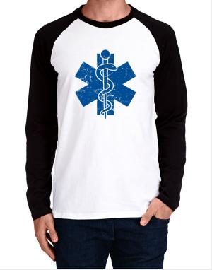 Star of life Paramedic Long-sleeve Raglan T-Shirt