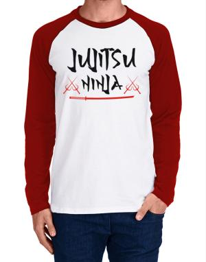 Jujitsu ninja Long-sleeve Raglan T-Shirt