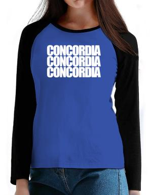 Concordia three words T-Shirt - Raglan Long Sleeve-Womens