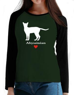 Abyssinian love T-Shirt - Raglan Long Sleeve-Womens