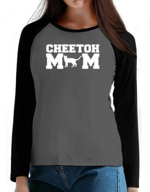 Cheetoh mom T-Shirt - Raglan Long Sleeve-Womens