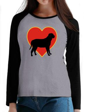 Broholmer heart love T-Shirt - Raglan Long Sleeve-Womens