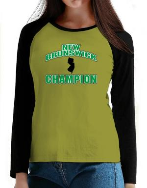 New Brunswick champion T-Shirt - Raglan Long Sleeve-Womens