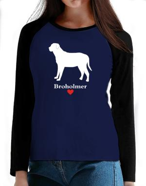 Broholmer love T-Shirt - Raglan Long Sleeve-Womens