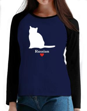 Russian love T-Shirt - Raglan Long Sleeve-Womens